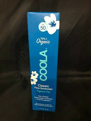 New in Box Coola 50 SPF Face Sunscreen Expires: 11/2021 Free Shipping