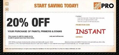 Home Depot 20% Off Paint Stains & Primers Coupon SUPER FAST DELIVERY
