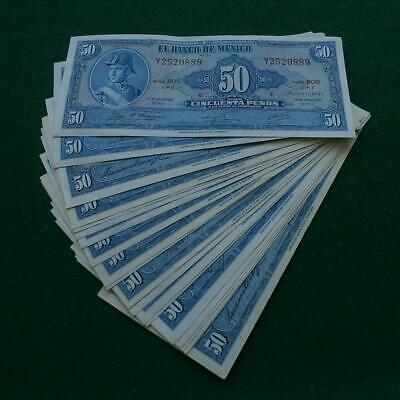 1972 American Bank note Co 20 notes 50 pesos AU