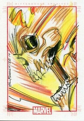 Marvel 70th Anniversary Sketch Card - JERRY GAYLORD - GHOST RIDER