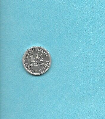 Retailers 0Ccupation Token, 1 1/2 Mills Dept Of Finance State Of Ill