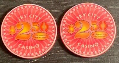Sky City Casino Acoma Pueblo, NM 2.50$ Poker Chips (2x)