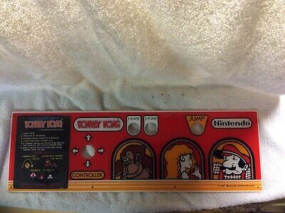 1981 New Old Stock - Original Donkey Kong Control Panel Plexiglass Never Used
