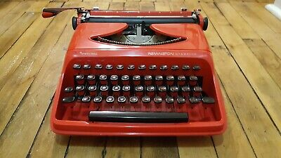 Sperry Rand Remington Starfire Red Typewriter 1960s In great shape.