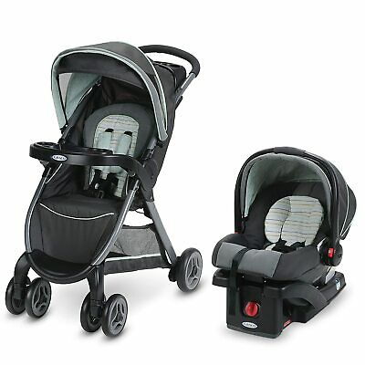 Graco FastAction Fold Click Connect Travel System, Bennett