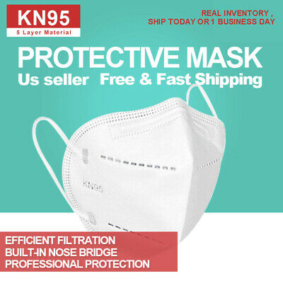 [5 Plys] KN95 Face Mask Disposabl  Face Mouth Shield (Not N95)1/2/5/10/20/50 pc