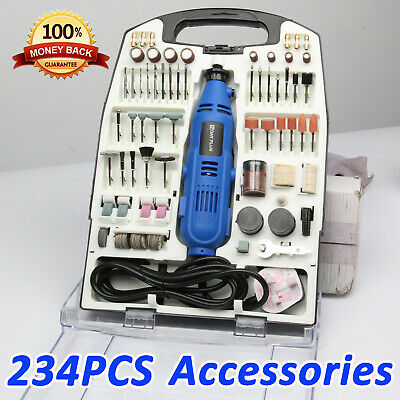 234Pcs Accessory Set Rotary Multi Tool Dremmel Drill Sand Grinder Polisher Kit