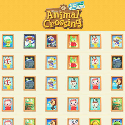 Animal Crossing New Horizons Framed Villager Pictures Photos 1 12 391 pcs ACNH
