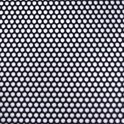 Black Small Holes Perforated Aluminum Sheet Metal Corrosion Resistant 36 x 36 in