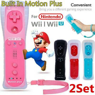 2Set With Motion Plus Inside Remote Controller For Nintendo Wii / Wii U Wiimote