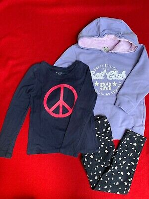 Girls bundle age 6-7 yrs. Crew junior purple Sweatshirt, Gap Navy legging and T