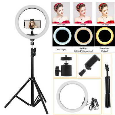 5in1 LED Illuminated Ring Light Make Up Cosmetic Camera Lighting +Tripod Stand