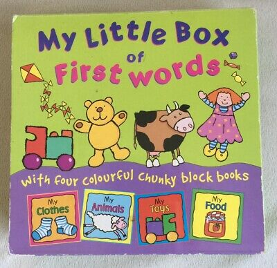 My Little Box Of First Words/ With 4 Colourful Chunky Block Books