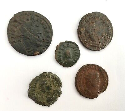 Group of 5 3rd and 4th Century Roman Coins