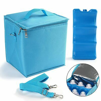 Insulated Breastmilk Cooler Bag W/ Hot Cold Ice Pack Bottle Storage Freeze Lunch