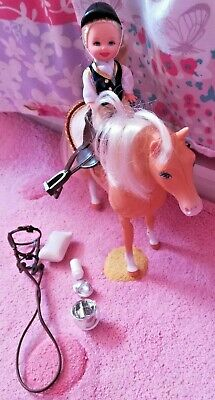 vintage Complete set  Barbie's Kelly and pony Riding Club set VGC
