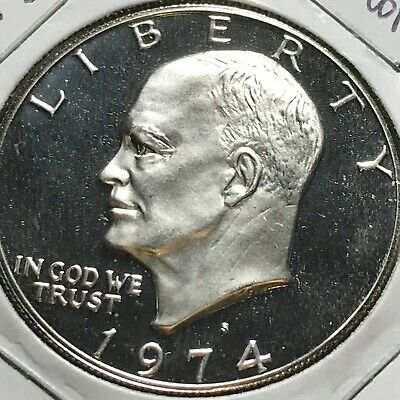1974-S US. Silver Eisenhower Dollar / Cameo Proof