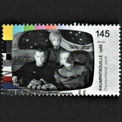 OLD STAMP GERMANY 2016 cv£9.00 GERMAN TELEVISION LEGENDS TV USED NEVER HINGED