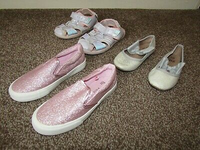 Three pairs of girls shoes, UK kids sizes 12 and 13