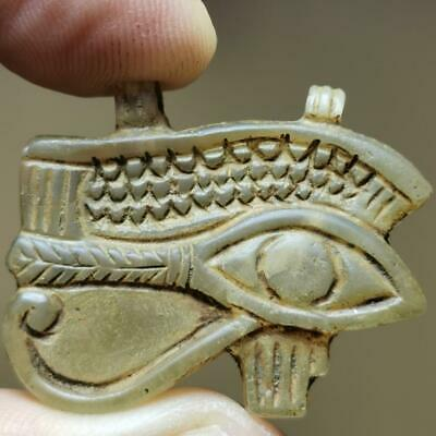 Very Old Excellent Ancient Rare Eye of Horus Crystal stone Amulet     # 1