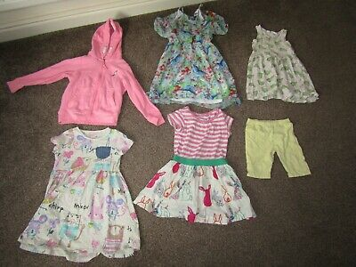Girls summer dress bundle ages 4-6 years; H&M and Next (plus pink Next hoodie)