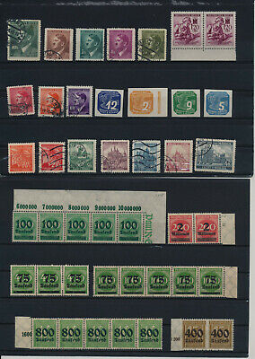 Germany, Deutsches Reich, Nazi, liquidation collection, stamps, Lot,used (VA 6)