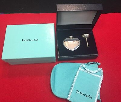 Vintage Tiffany & Co Sterling Silver Heart Perfume Decanter Bottle~B#041