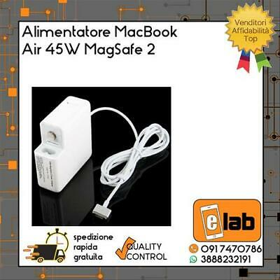 Alimentatore Completo 5 Pin Per Apple Macbook Air (2012) 45W Bianco Magsafe 2