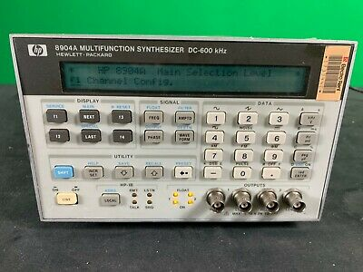 Hp 8904A Multifunction Synthesized Generator Option 001 002 003