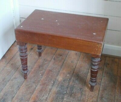 Antique Wooden Commode with removable wooden top.
