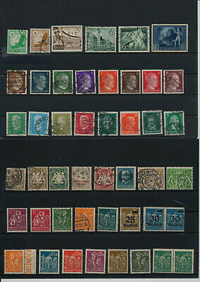 Germany, Deutsches Reich, Nazi, liquidation collection, stamps, Lot,used (VA 38)