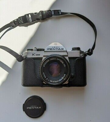 Pentax K1000 35mm film camera with Pentax 50mm 1:2 Lens and Working Light meter