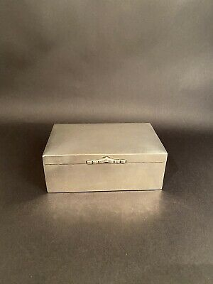 Art Deco Silver Hinged Tobacco Box - Gottlieb Kurz - Germany