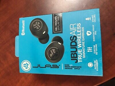 NEW JLab Black JBuds Air Sport Bluetooth True Wireless In-Ear Headphones