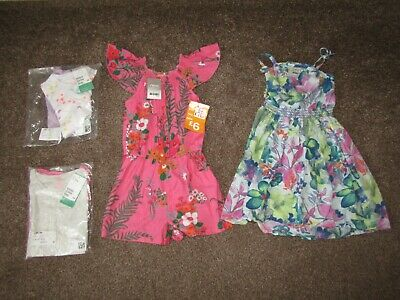 Girls summer clothing bundle Age 6 years, includes brand new Next and H&M items