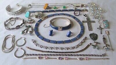 Vintage Sterling Silver Jewelry Lot, 13 ounces, Morita Gil, Taxco, Italy