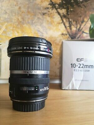 Canon EF-S 10-22mm F3.5-4.5 USM Ultra Wide AF Zoom Lens with Front & Rear Caps