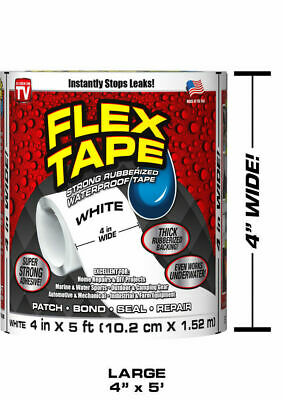 FLEX TAPE Waterproof WHITE Sealant Pipe Strong Leakage Leak AS SEEN ON TV Seal
