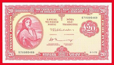 1975 The Central Bank Of Ireland 20 Pounds Uncirculated.