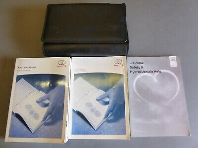 Toyota Auris Hybrid 2012-2015 Handbook Owners Manual Navi Genuine Print 2013