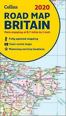 2020 Collins Map of Britain by Collins Maps (English) Paperback Book Free Shippi