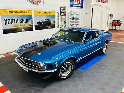 1970 Ford Mustang -MACH 1 SPORTS ROOF - MARTI REPORT - 351 SHAKER HO Blue Ford Mustang with 32,236 Miles available now!