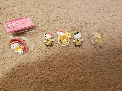 Vintage Hello Kitty Mini Figures (5 Items In Set)