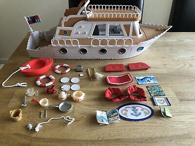 Sylvanian Families Cruise Ship Lots Of Origional Accessories