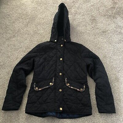 Barbour Girls Navy Quilted Jacket Size L 10-11