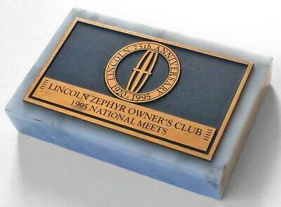 1995 LZOC Lincoln-Zephyr Owners Club MARBLE PAPERWEIGHT Lincoln 75th Anniversary