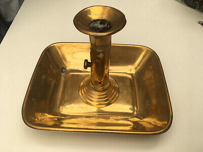 Antique Brass Chamberstick With Pusher