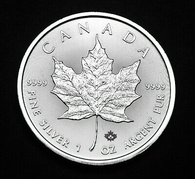 2020 $5 Canada Maple Leaf 1oz Fine .9999 Silver - one of the purest silver  6