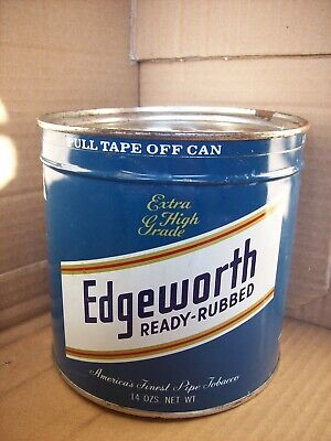 Vintage TOBACCO TIN EDGEWORTH READY-RUBBED - can with Lid - Virginia