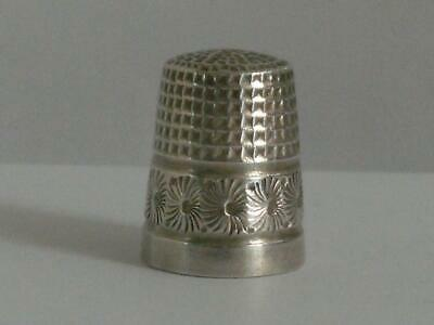SOLID SILVER THIMBLE Chester 1919 Charles Horner